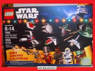 LEGO STARWARS ADVENT CALENDAR 2011 NEW 7958 SANTA YODA CLONE PILOT