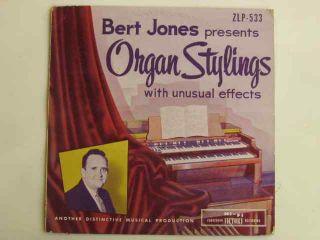 Bert Jones Organ Stylings with Unusual Instruments