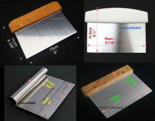 Dough Cutter Scraper Bench Knife Chop White Plastic Handle Wooden
