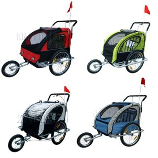 Double Kids Child Bicycle Bike Trailer Children Carrier Stroller Buggy