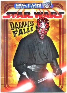 Star Wars Darth Maul Darkness Falls Big Fun Coloring Book