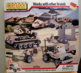 BEST LOCK MILITARY CONSTRUCTION SET ARMY STRONG GRAY CAMOUFLAGE