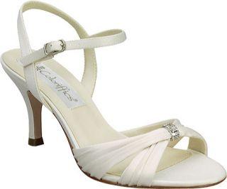 womens 7 5 W Coloriffics Tori shoe ivory wedding prom heel wide