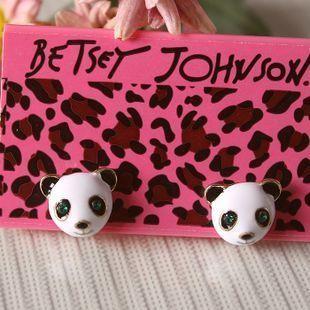 Betsey Johnson Cute Panda Head Earrings E068