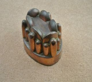 Antique Victorian Benham and Froud 182 Copper Jelly Jello Mould Good