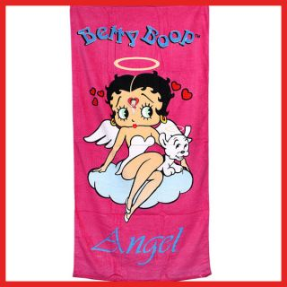 Betty Boop Beach Bath Towel Pink Angel Cotton 30 x 60