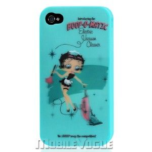 Betty Boop Silicone Skin Case Cover for iPhone 4 4S Blue at T
