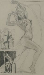 Jim Silke Original Art Betty Page Bettie 1999 Cleopatra Published