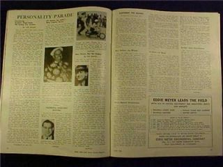 Age Magazine June 1948 Indy 500 Bill France Very Good Condition