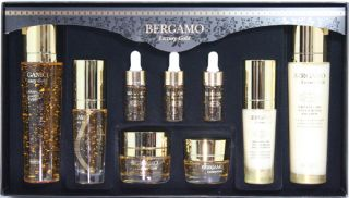 Bergamo Luxury Gold Collagen Skin Care System Anti Aging Special Gift