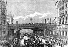 1869 Queen Victoria Great Britain Holborn Valley & Blackfriars Bridge