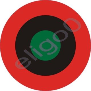 1x Biafra Air Force Roundel Vinyl Sticker Decal