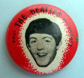 Paul McCartney Beatles Original 1964 Pinback Button 461