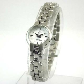 Bill Robinson Womens Round Silver Tone White Dial Bracelet Watch New