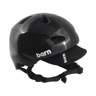 BERN BRENTWOOD Summer Helmet Gloss Black with Visor MEDIUM Skate Bike