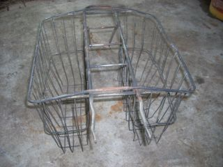 Double Rear Basket Schwinn Bicycle Large Wire Back Rack 60s Metal