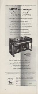 Vintage 1953 Lester Piano Ad Betsy Ross Spinet