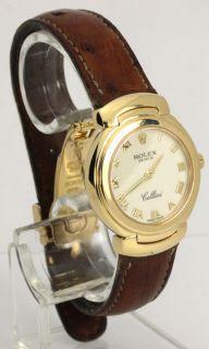 Ladies Rolex Cellini 18K Yellow Gold Swiss Watch 6621 Box Warranty 26