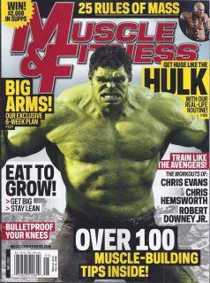 FITNESS MAGAZINE HULK AVENGERS BIG ARMS MASS RULES KNEES EAT TO GROW