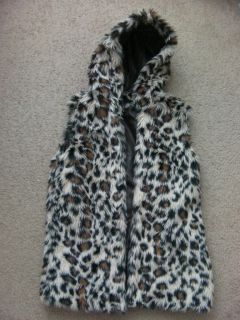 Japan Leopard Vest White Animal Print Faux Fur 2012 Winter Fall Tokyo