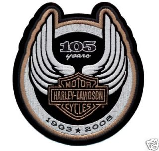 harley davidson 105th anniversary logo patch  24