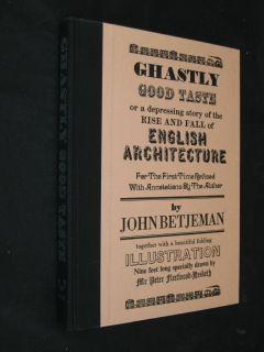 John Betjeman Ghastly Good Taste Anthony Blond 1933 HC DJ