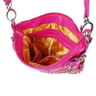 Betty Boop Signature Rhinestones Heart Design Messenger Handbag Purse