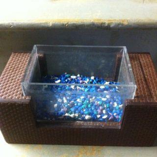 Used Mini Fish Tank Square Aquarium Bowl For Betta Or Small Fish
