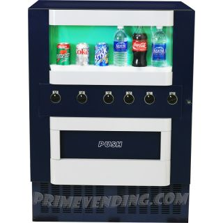 Machine Vends Can Bottle Water Energy Drink Beverages Compact