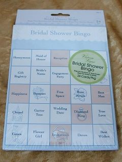 New Fun Wedding Bridal Shower Bingo Game Cards for 24 Guests
