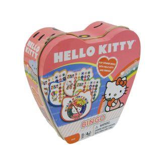 HELLO KITTY Travel Bingo Game Set in Metal Heart Storage Tin