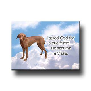 hungarian vizsla true friend from god fridge magnet dog time