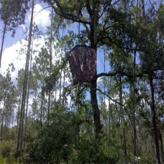 description the bigfoot camo two man ladder stand hunting blind is
