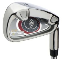 Mens Oversized Right Handed Silver Diamond Big s Custom Iron Set Golf