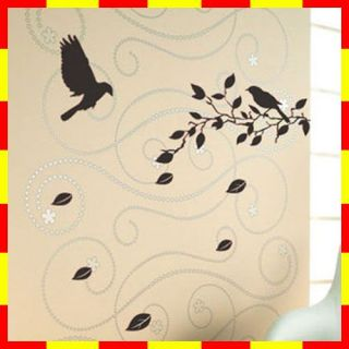 GP 14 Tree Bird Vinyl Graphic Wall Art Decor Sticker