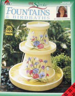 Fountains Birdbaths Donna Dewberry Painting Pattern Book