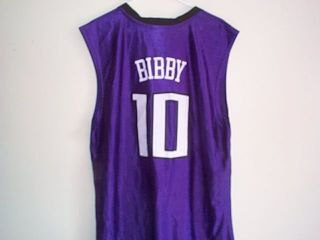 New MIKE BIBBY SACRAMENTO KINGS Mens Large Basketball NBA JERSEY