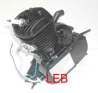 80cc Bicycle Motor Kit Bike Motorized Gas Engine X80BK Black