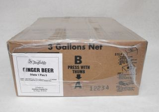 Gal Bib Ginger Beer Dispenser Syrup for Wunderbar Soda Guns