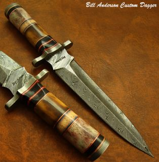 Bill Andersons Prestigious RARE 1 of A Kind Custom Damascus Art