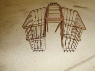 Antique Vintage Bicycle Rear Basket Schwinn Monark Hawthorne Huffy