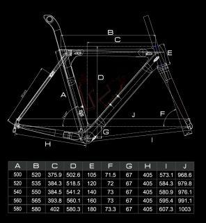 RB006 Full Carbon Aero Frameset Bicycle Parts Road Bike Carbon Frames