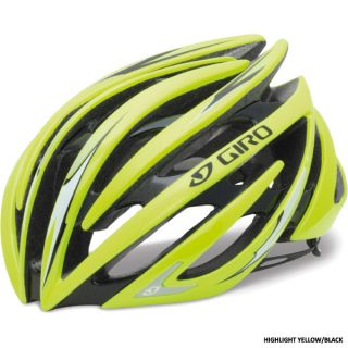 Giro Aeon Road Race Bicycle Helmets Highlight Yellow Black Large LG