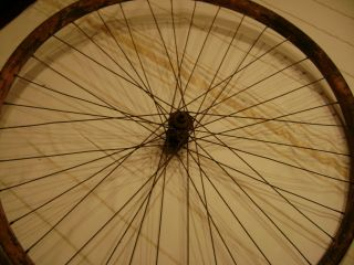 Antique Wooden bicycle wheel 1915 wooden wheel with all spokes No