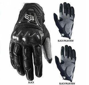 Carbon fiber Bomber motocross Gloves Motorcycle Bicycle gloves size XL