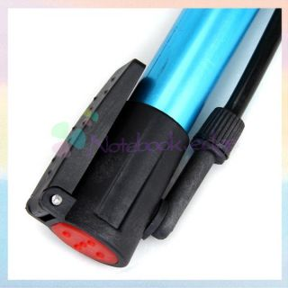 Mini Bike Bicycle Tire Inflator Manual Air Pump Blue