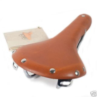 Gyes GS 06 Leather Bike Bicycle Saddle Honey Racing 560 012