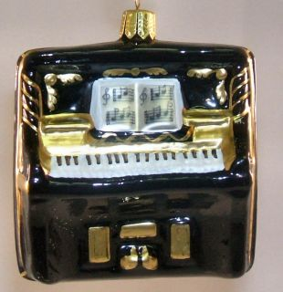 glass christmas tree ornament black piano german glass christmas tree