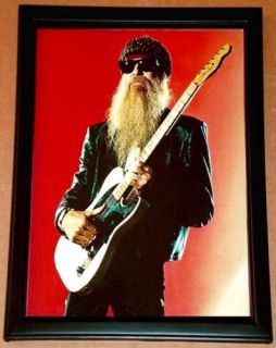 Billy Gibbons ZZ Top Fender Esquire Framed Tribute