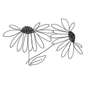Penny Black Rubber Stamp 3820k A TOUCH Brown Eyed Susan Flowers